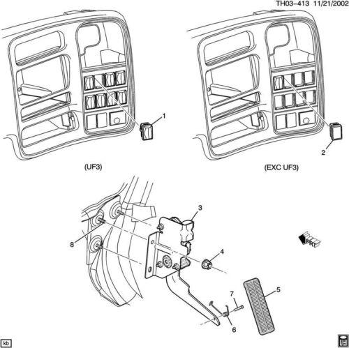 2003-2009 Topkick//Kodiak C4500-C8500 Blank Switch Plug Black New 15013691