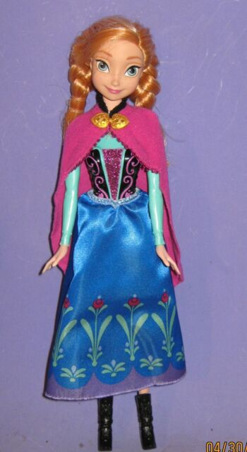 ANNA-DISNEY FROZEN-IN ORIGINAL OUTFIT w/ BOOTS-BARBIE SIZE-11 1/2""