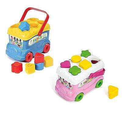 New Disney Mickey Mouse /& Friends Baby Mickey Shape Sorter Bus