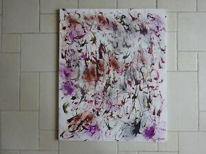 Christiane Dumas, Drip-art composition, doek, 100 x 80 cm