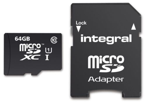 64GB Micro SDXC Memory Card Fast Class 10 UHS-I U1 90MB//s with SD Adapter.