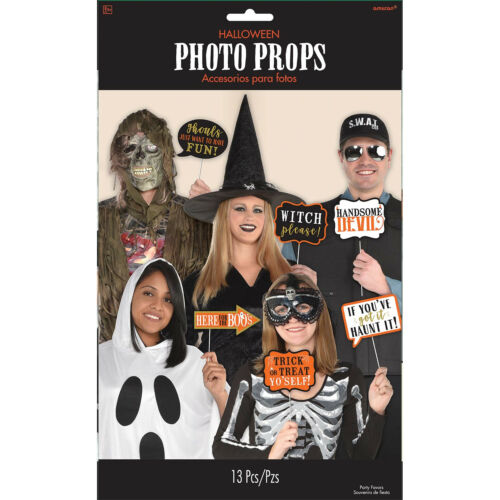 13 x Halloween Photo Booth Face Photo Frame Props Party Activity Ideas