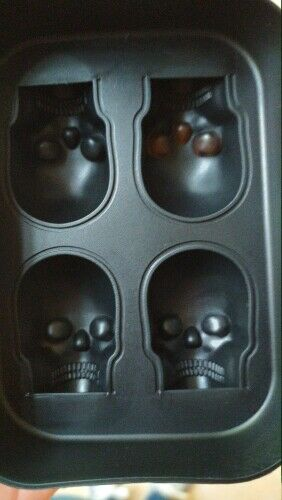 3D Mold Big Skull Shape Cake Chocolate Maker Silicone Trays DIY Ice Cube Moulds