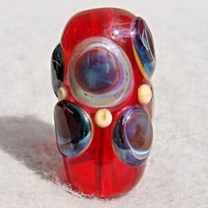 TARGET-PRACTICE-Handmade-Art-Glass-Focal-Bead-Flaming-Fools-Lampwork-Art-Glass