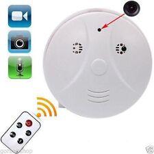 SPY Cam Telecamera Nascosta Rilevatore di Fumo Allarme Voce Video DV DVR MOTION MICRO SD