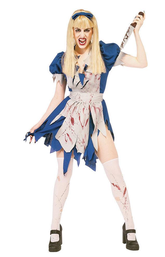Walking Dead Ladies Halloween Zombie Malice in Horror Land Fancy Dress Costume