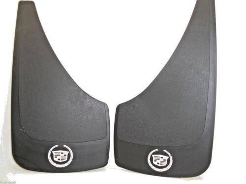 Cadillac 2 PAIR Crest Logo Splash Guards Black White Caddy Shield Car //Small SUV