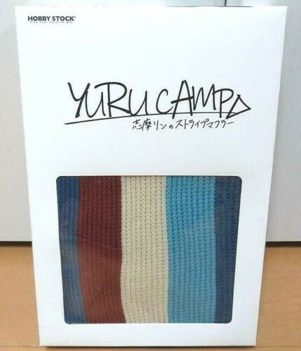 Yuru Camp Rin Shima Striped Scarf Hobby Stock Costume Cosplay Laid-Back Official