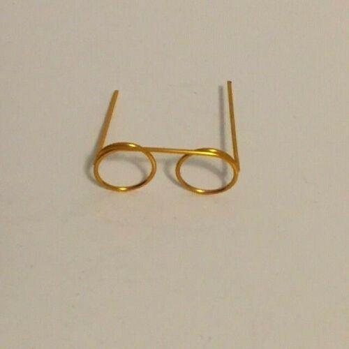 "6 Mini Doll Santa Claus Bear Gold Wire Eye Glasses Doll Making Crafts 1.25/"" NIB"