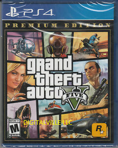 Grand-Theft-Auto-V-Premium-Edition-PS4-Brand-New-Factory-Sealed-GTA-5