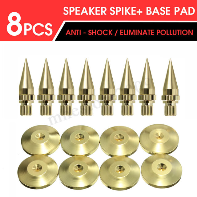 4pcs Speaker Shock Absorbing Spike Foot Pad Isolation Stand Rubber Cone Base Pad