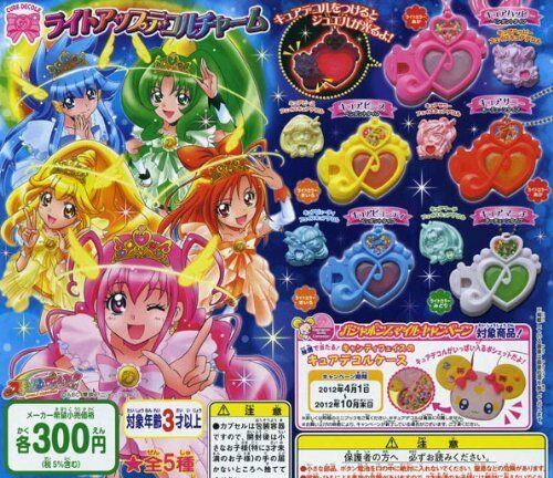 Light Up Deco Le Charm 5 Pics Set Capsule Toys Gashapon Smile Pretty Cure