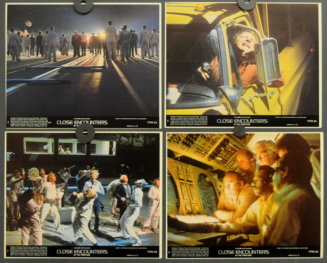 Close Encounters Of The Third Kind 1977 Orig 8x10 Lobby Karte Set Dreyfus