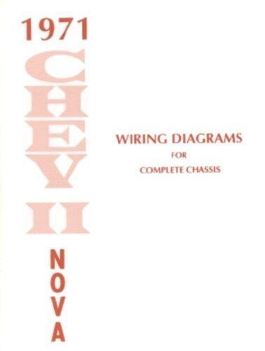 CHEVY II/NOVA 1971 Wiring Diagram 71 | eBay