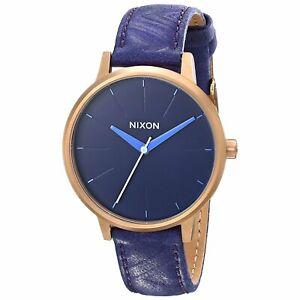 Nixon A108-1674 Kensington 37MM Women's Purple Leather Watch