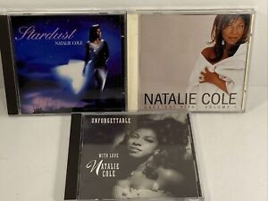 NATALIE COLE, UNFORGETTABLE, GREATEST HITS VOL 1, STARDUST, LOT OF 3 CD'S