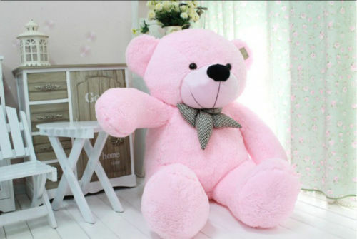 100cm soft cotton doll toys stuffed Xmas gifts Pink plush teddy bear Giant huge