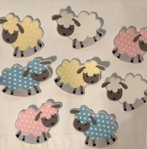 Soft-Little-Lambs-Chubby-Sheep-Baby-Shower-Onsies-Iron-On-Fabric-Appliques