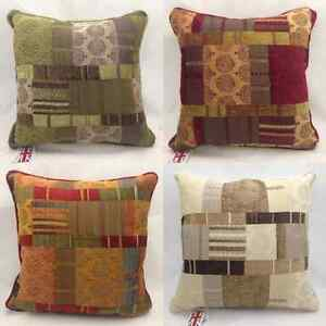 Morocco-Luxury-Tapestry-Chenille-Cushion-Cover-17-034-X-17-034-4-Colours