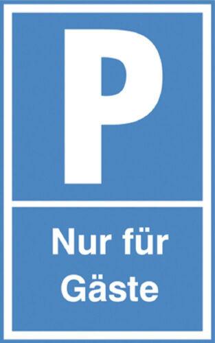Schild Parkplatz Schilder 40 x 25 cm P parken nur fuer Gaeste 308705