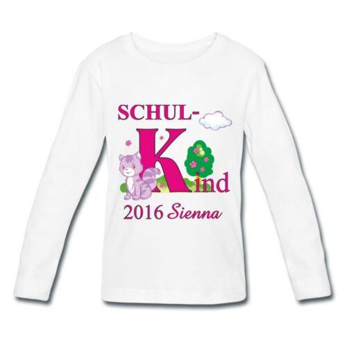 Schulanfangset Chemise manches longues avec patinage nom jeune écolier deuxième pressé école enfant
