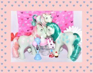 My-Little-Pony-MLP-G1-Vtg-Loving-Family-Sweet-Celebrations-Mommy-Daddy-Baby