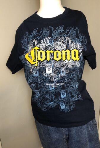 Medium Corona Extra Mexican Beer Graphic T-Shirt L
