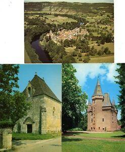 48 - Saint-Léon sur Vézère - Château de Clérans (Dordogne) - lot de 3 CPSM - France - État : Occasion: Objet ayant été utilisé. Consulter la description du vendeur pour avoir plus de détails sur les éventuelles imperfections. ... - France