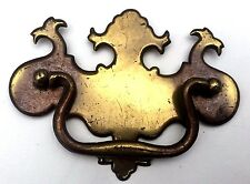 """Brass Vintage Antique Hardware Chippendale drawer pull 3 1/2"""" center Batwing"""