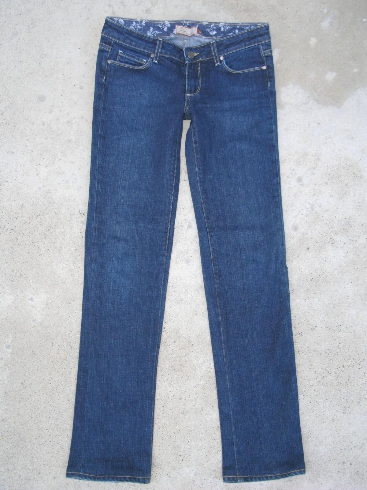 Paige Premium Jeans Womens Hollywood Hills Sz 28 Straight Legs Narrowed