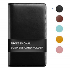 Sooez Leather Business Card Book Holder Professional Business Cards Book Pu For