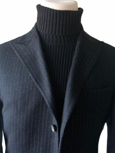 Corneliani Trend Men's Black Pinstripe Stitched 10