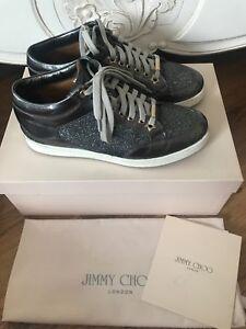 Jimmy Choo Silver Miami Trainers - UK2