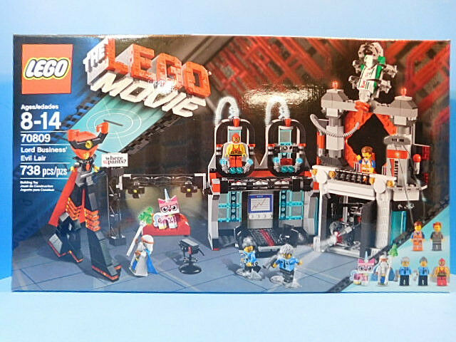 Lego The Movie 70809 Lord Geschäft' Evil Lair  New     739 pieces  LM2