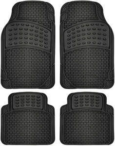Car-Floor-Mats-For-All-Weather-Rubber-4pc-Set-Semi-Custom-Fit-Heavy-Duty-Black