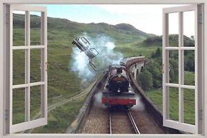 Huge-3D-Window-view-Hogwarts-Express-Harry-Potter-Wall-Sticker-Mural-Decal-128