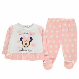 Minni 2 Pezzi Set Pigiama Bambine Character Wear Rosa Pigiama Indumenti Da Notte Clear-Cut Texture Vestiti Bambina (0-24 Mesi)