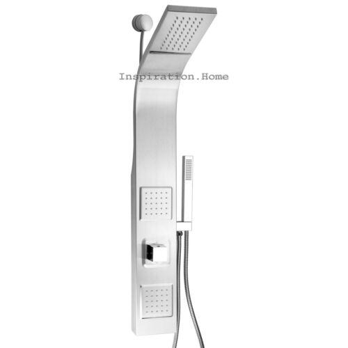 "39/"" Shower Panel Tower Handheld Shower Head Wall Mount Rainfall Waterfall Style"
