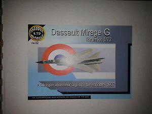 DASSAULT MIRAGE G PHAEDRA 1/72 RESIN KIT