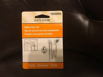 Nickel Sliding Glass Patio Door Security Night Lock Pin