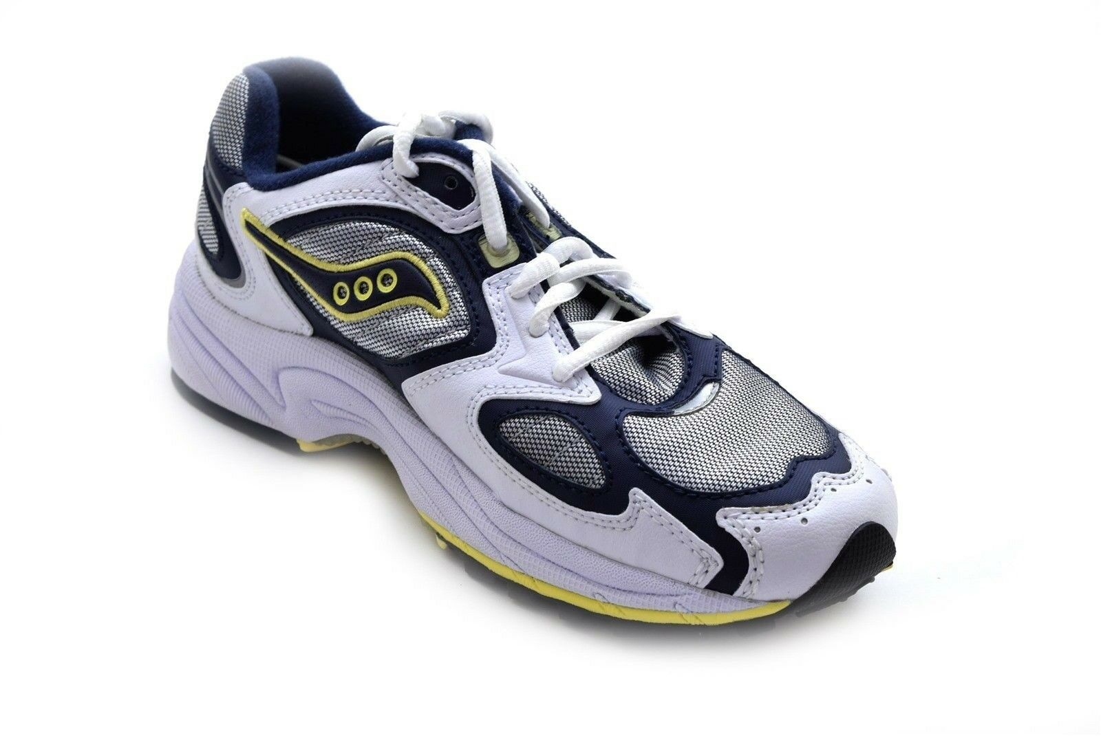 Saucony Women's Grid Jazz 9 Running shoes shoes shoes White Navy Yellow Size 5 - NIB 01fbef