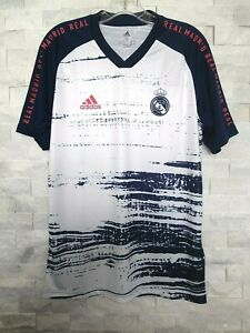 Details about adidas 2020-21 REAL MADRID PRE-MATCH JERSEY (FQ7892) WHITE-BLUE-PINK