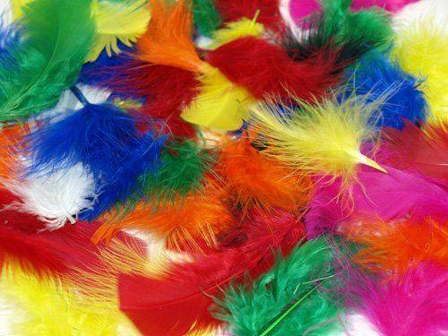 Coloured Fluffy Feather Art Craft Easter Hat Costume Millinery Card Scrapbook BN