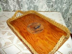 1930s-WICKER-WOOD-SERVING-VANITY-TRAY-LADY-LAVENDER-DECAL-FRENCH-FARMHOUSE