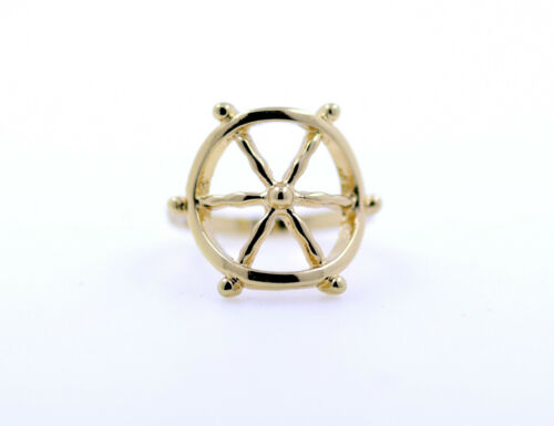 Vintage retro style ship wheel charm ring multiple choices