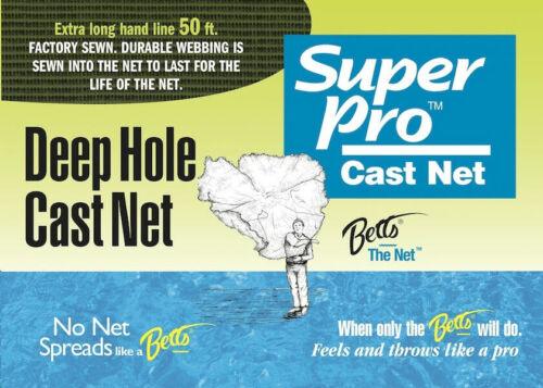 "radius x 5//8/"" Mesh 25709 Betts 19-10DH trous profonds Super Pro Cast Net 10 ft environ 3.05 m"