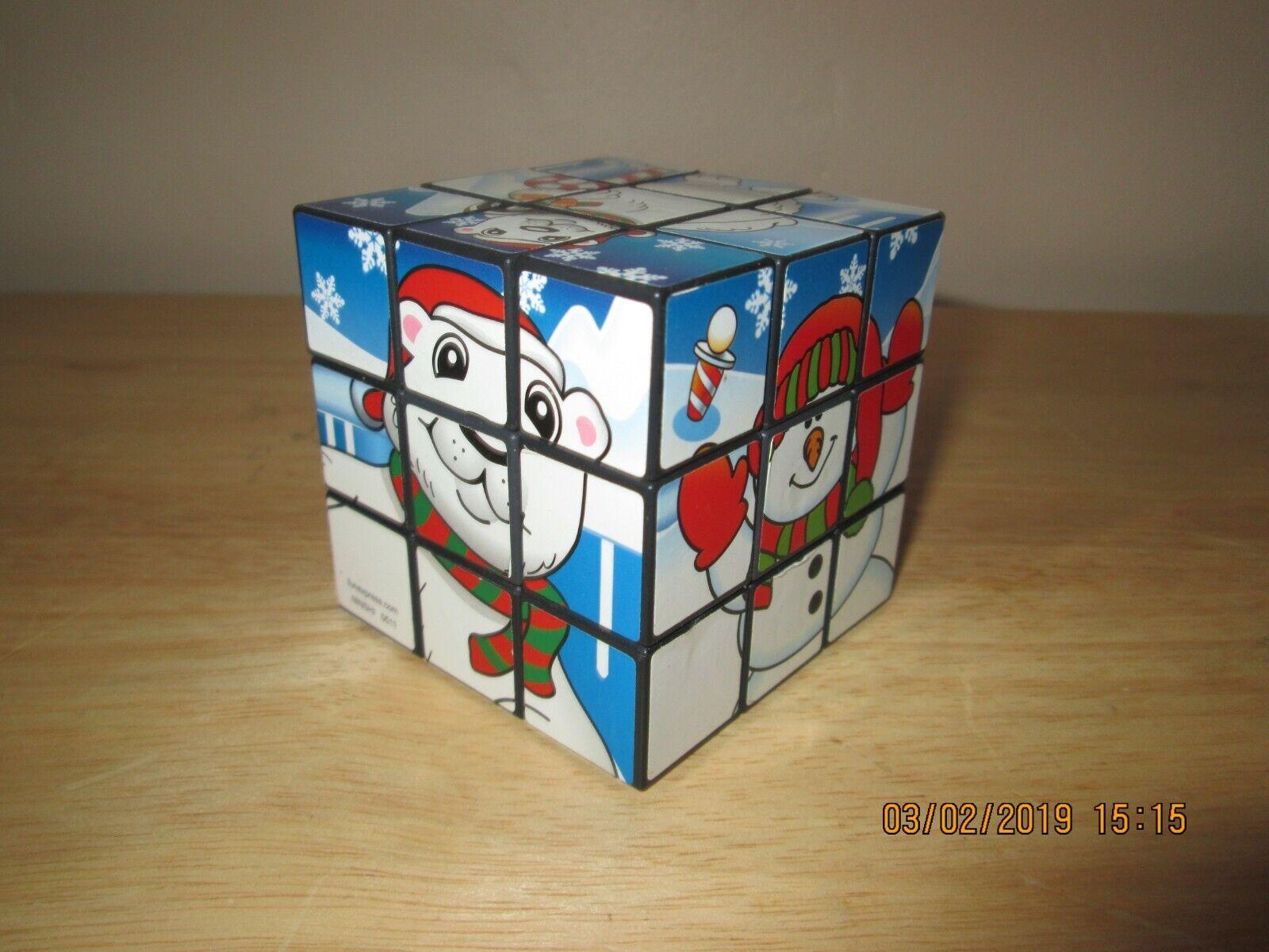 Rubik's Cube 3x3x3 Winter Fun Snow Man Ice Penguin Polar Bear Seal Animal Cold
