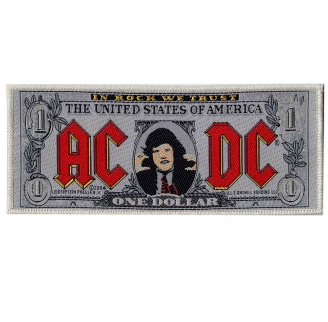AC/DC Angus Bank Note Dollar Bill Woven Patch Official Rock Band Merch New