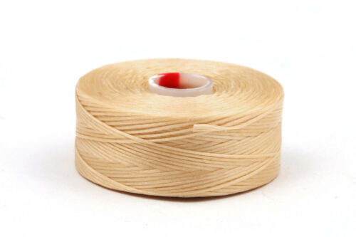 1 Rolle C-Lon Garn Dark Cream ø0,30mm flexibles Perlengarn Fädelarbeiten