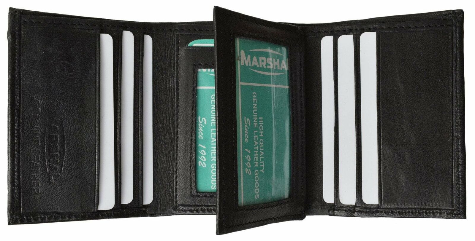 Mens Leather Wallet Lamb Classic Trifold Wallet P 1107 (C)